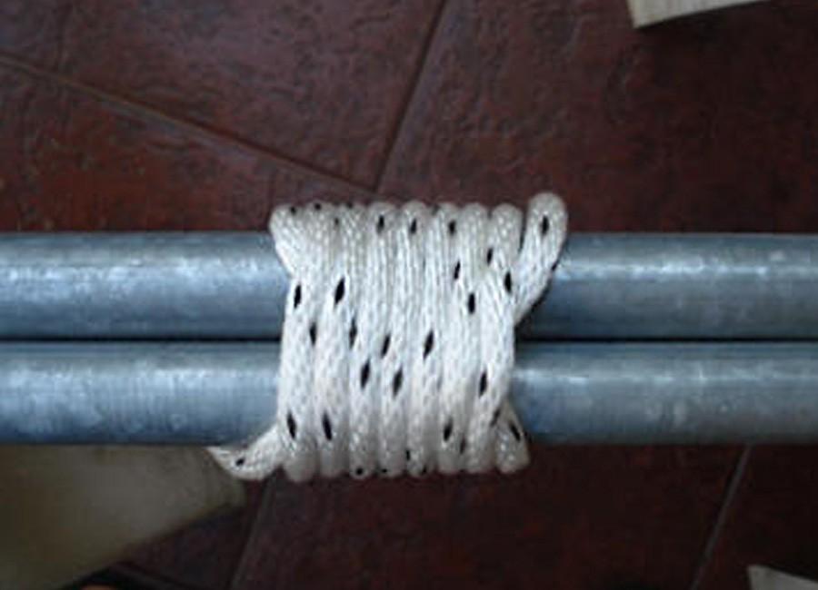 nudos y amarres para construcciones - amarre redondo