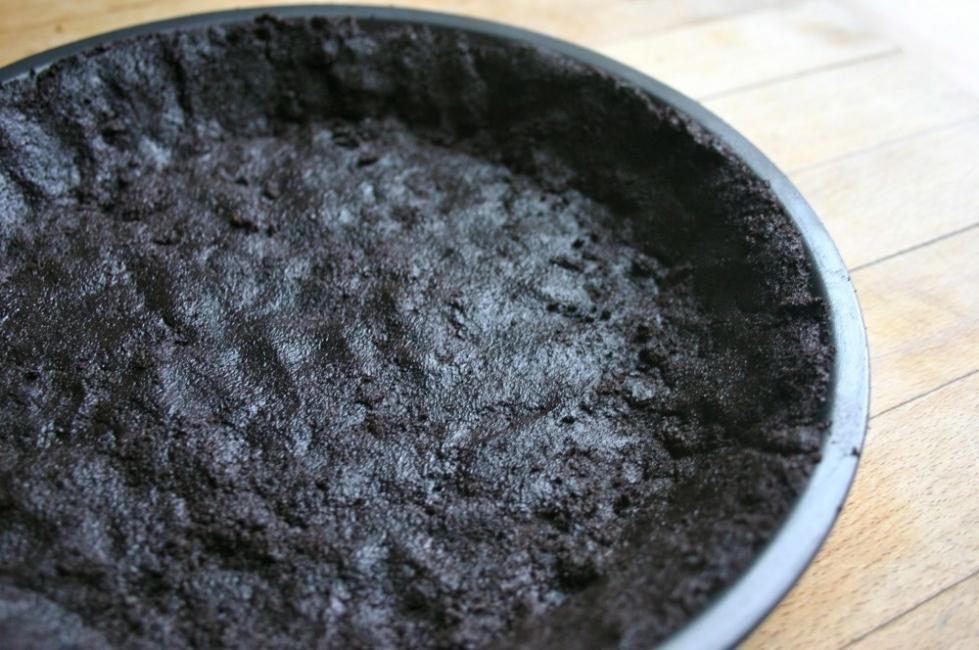 Cheesecake helado de menta sin cocción - base