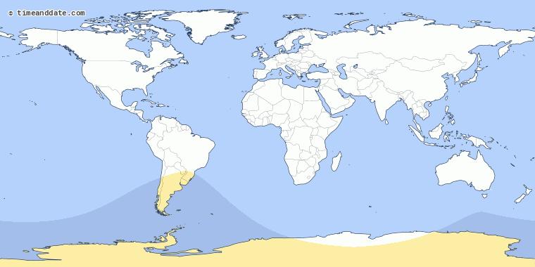 Podrá ser visto en el sur de América del Sur