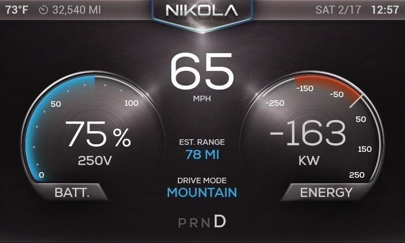 nikola one- camión eléctrico con turbina a gas