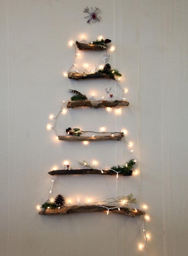 Árboles de Navidad para espacios pequeños - troncos