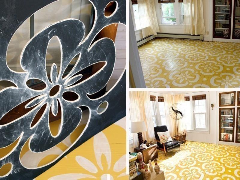 ideas alternativas para redecorar tus pisos- stencil