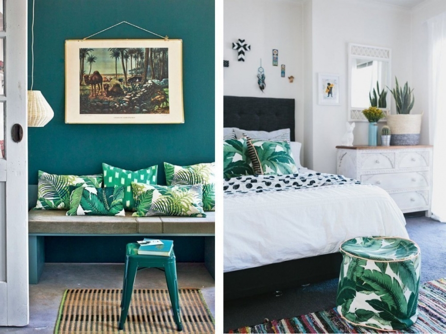 Cómo decorar con estilo tropical- estampados
