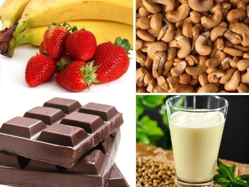 Paletas heladas de chocolate y fresa - ingredientes