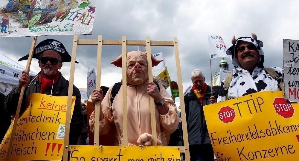 Acuerdo de libre comercio EEUU- UE- TIIP- protestas
