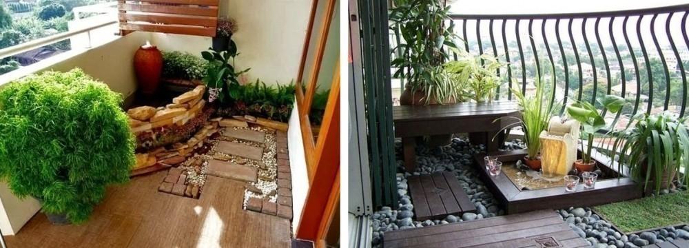 jardín en un balcón