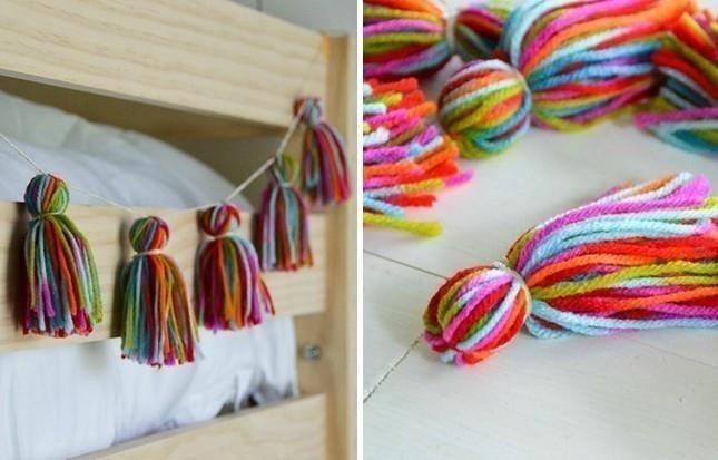 borlas de lana para decorar- adorno