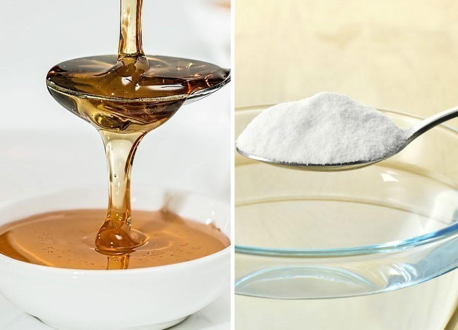 Remedio casero con bicarbonato de sodio y miel - ingredientes