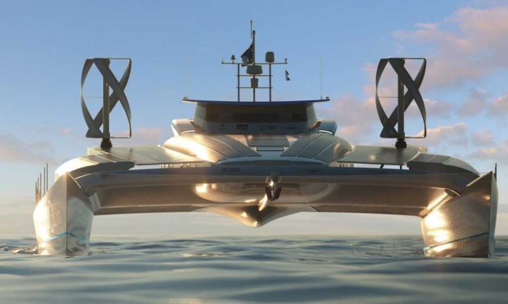 Un barco dará la vuelta al mundo solo con energía solar, eólica y combustible de hidrógeno
