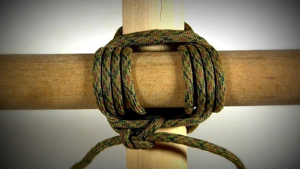 nudos y amarres para construcciones - amarre cuadrado