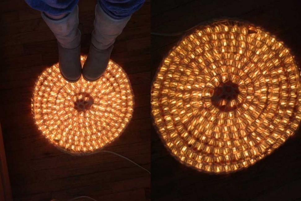 Decorar con luces en cadena - alfombras
