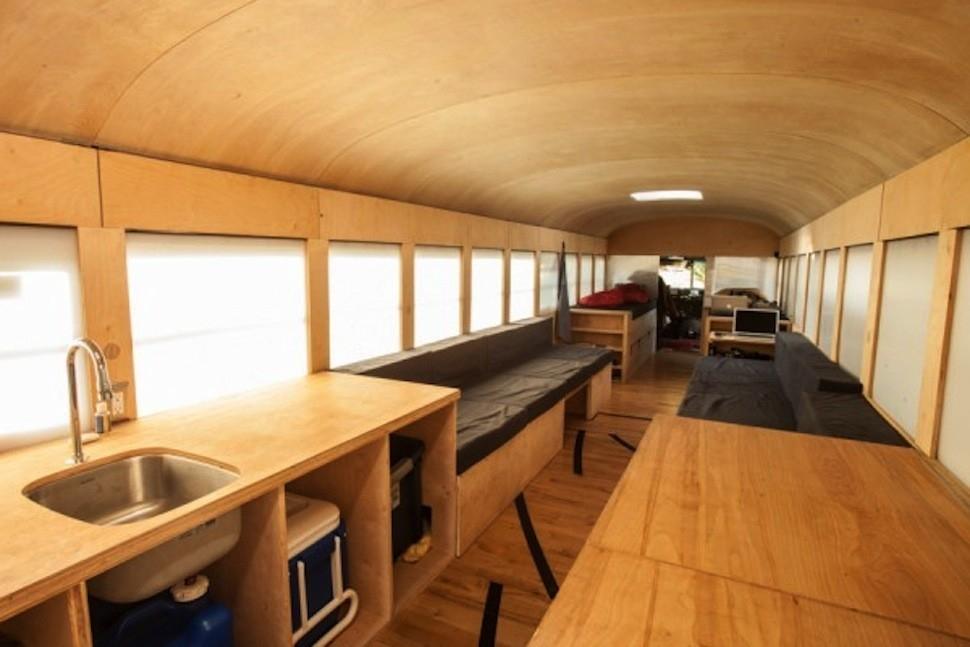 casa pequeña - autobus
