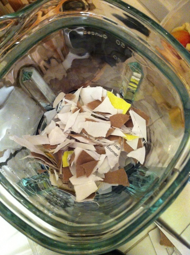 Papel reciclado - licuar papel