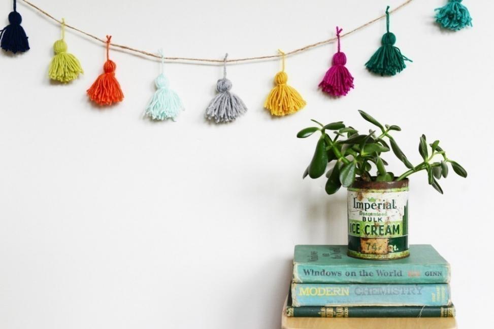 borlas de lana para decorar- guirnaldas
