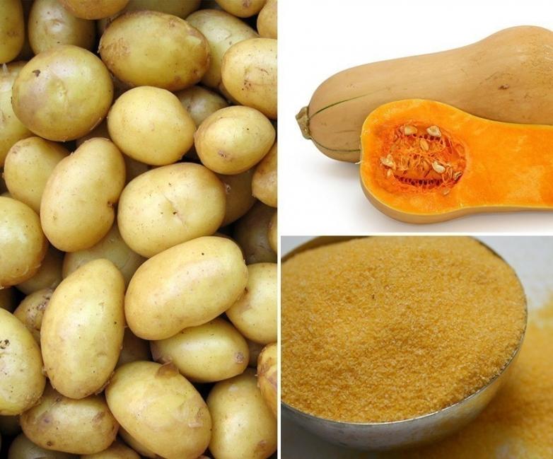 Pancitos de maíz, patata y calabaza sin gluten - ingredientes