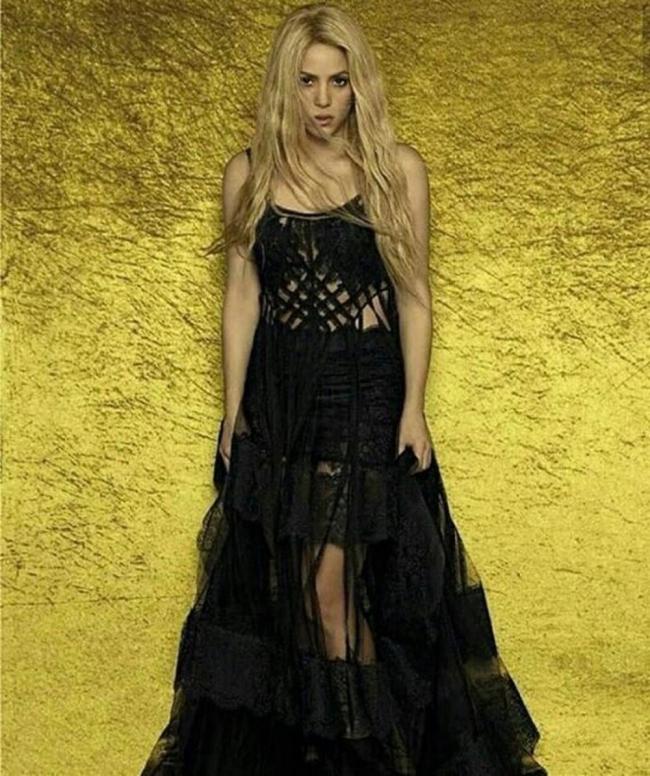 Shakira vestido boda de messi