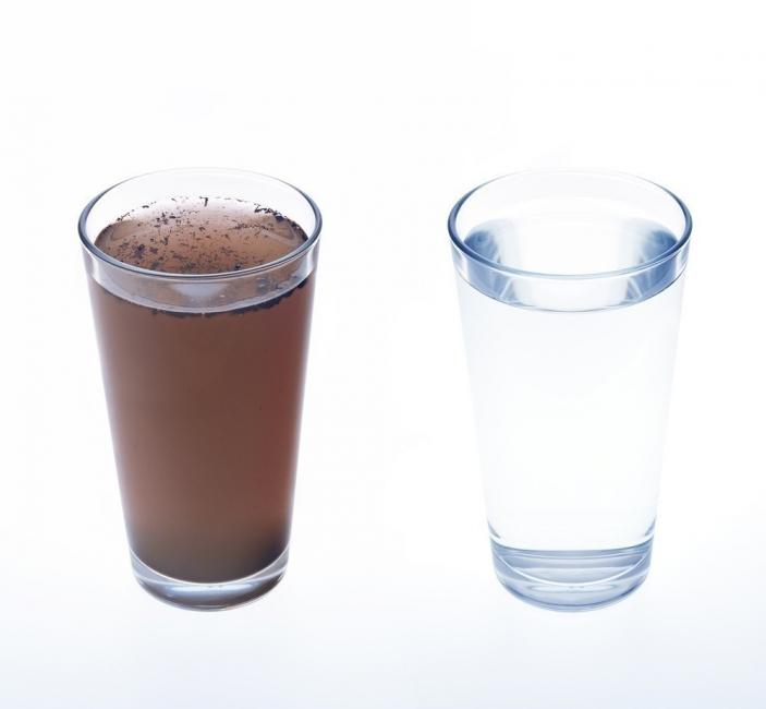 Filtro purificador de agua casero - agua potable y agua sucia