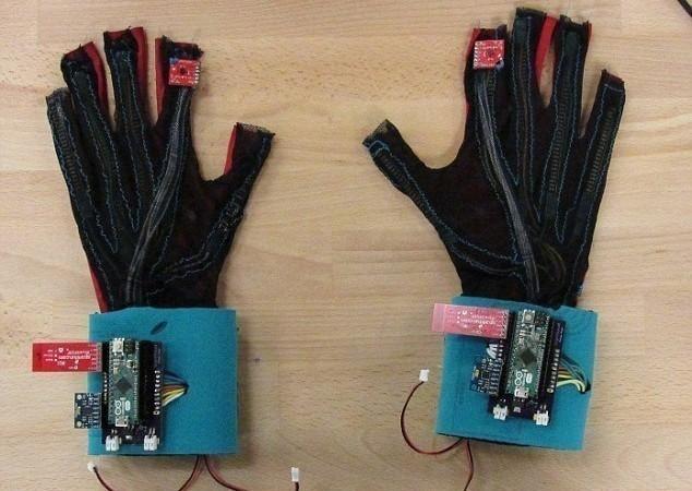 guantes de señas